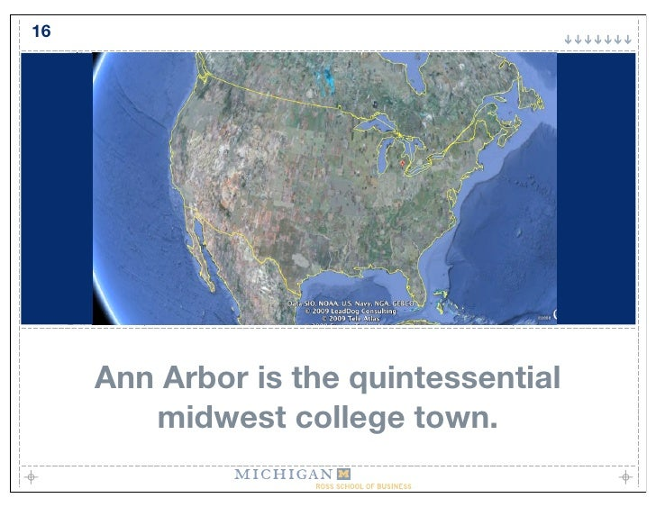 16          Ann Arbor is the quintessential         midwest college town.