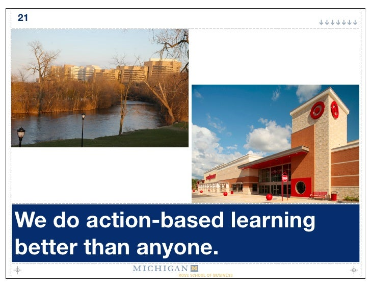 21     We do action-based learning better than anyone.