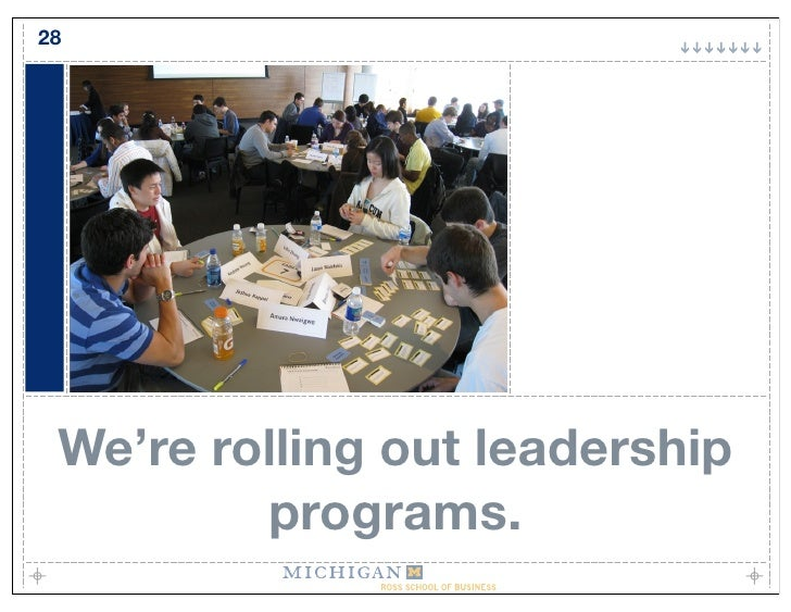 28      We're rolling out leadership          programs.