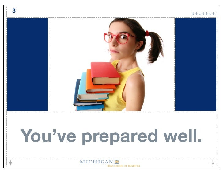 3         You've prepared well.