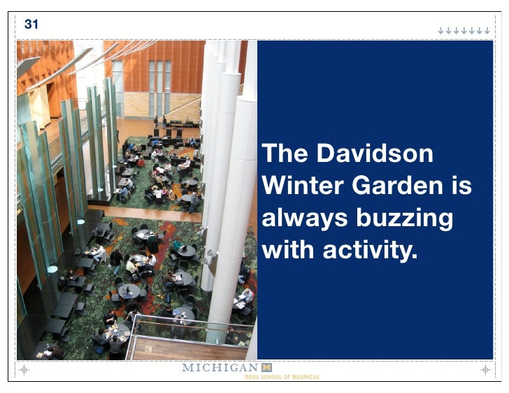31          The Davidson      Winter Garden is      always buzzing      with activity.