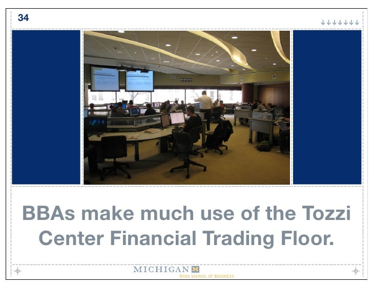 34     BBAs make much use of the Tozzi  Center Financial Trading Floor.