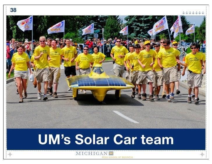 38          UM's Solar Car team