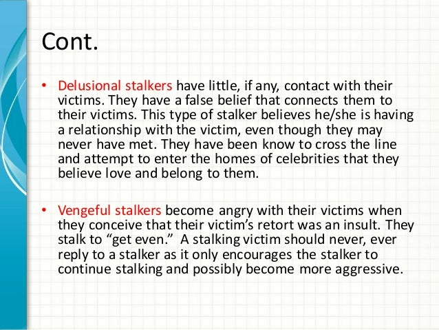 How to avoid stalkers