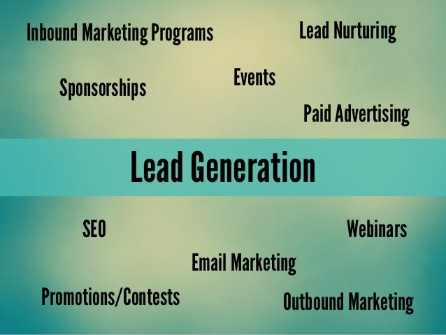 Lead GenerationLead NurturingEmail MarketingInbound Marketing ProgramsSponsorshipsPaid AdvertisingSEOEventsWebinarsOutboun...