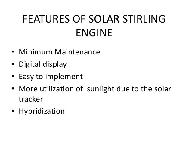 Solar stirling engine ppt.