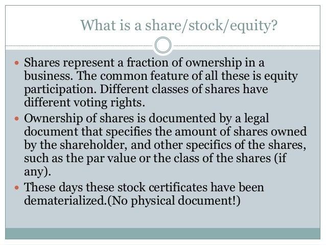 What are equity stocks стратегии дейтрейдинга на форексе