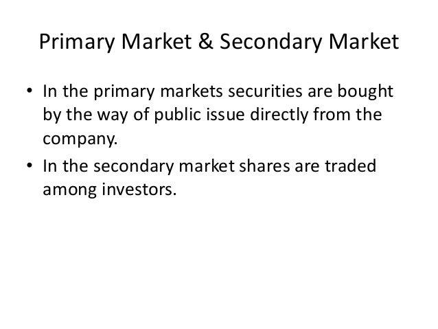 Secondary market stock options