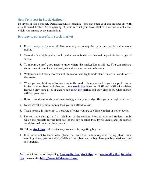 share market for beginners pdf