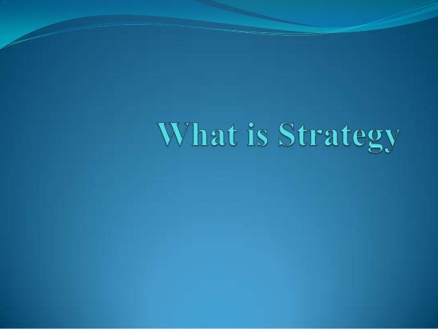 Operational Effectiveness is Not Strategy The main problem is the failure to distinguish between    operational effective...