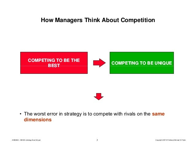 What is strategy by Michael Porter Slide 2