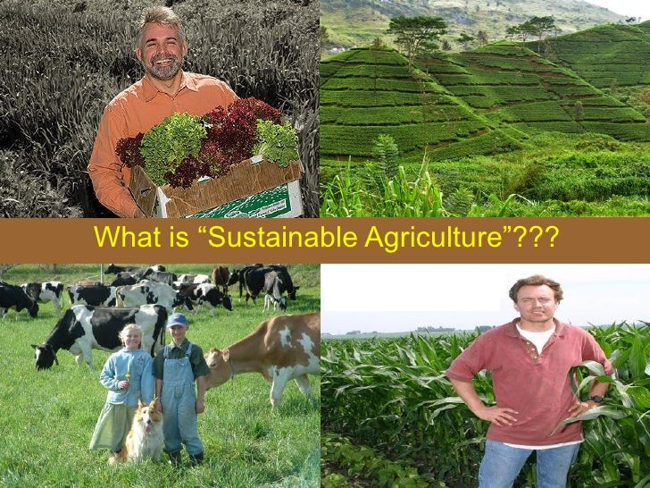 "What is ""Sustainable Agriculture""???"