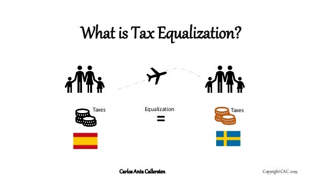 What is Tax Equalization? Copyright CAC, 2019CarlosAntaCallersten = Taxes TaxesEqualization