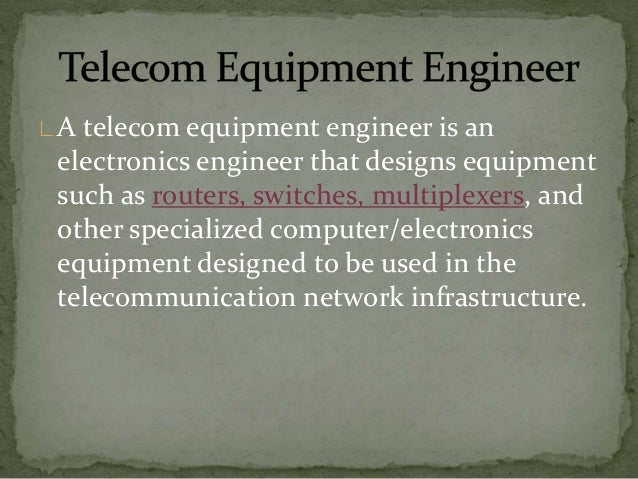 What is Telecom Engineering?