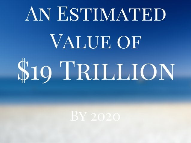 $19 Trillion An Estimated Value of By 2020