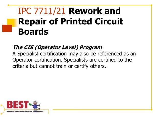 What is the IPC 7711/21 Certification Program