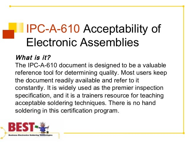 What is the IPC A-610 Certification Program