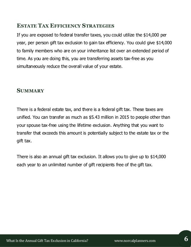 6. What Is the Annual Gift Tax Exclusion ...