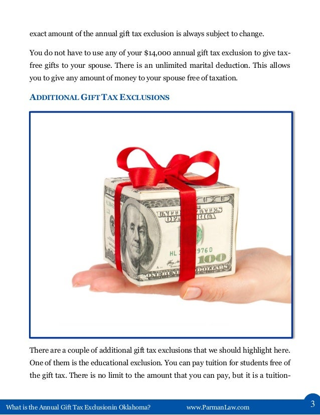 What Is the Annual Gift Tax Exclusion in Oklahoma?