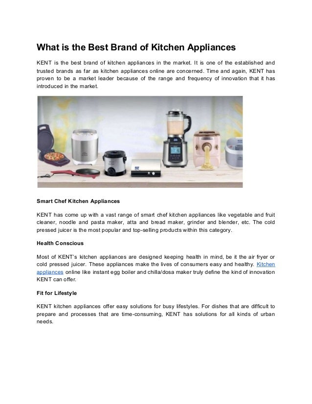What is the Best Brand of Kitchen Appliances