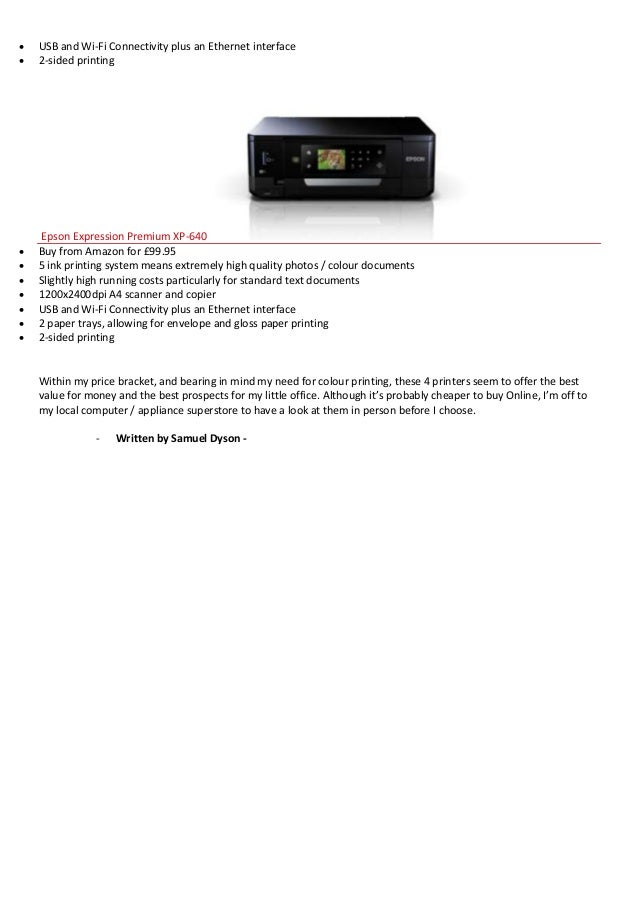 What Is The Best Home Office Printer Samuel Dyson