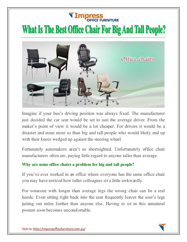 What is the best office chair for big and tall people
