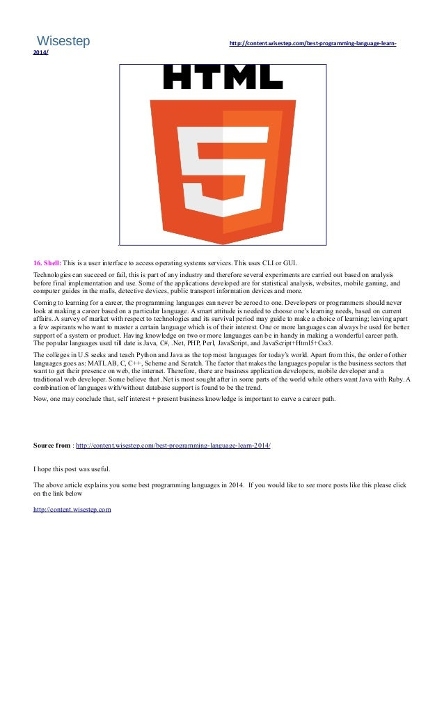 What is the #Best #programming #Language to learn in 2014