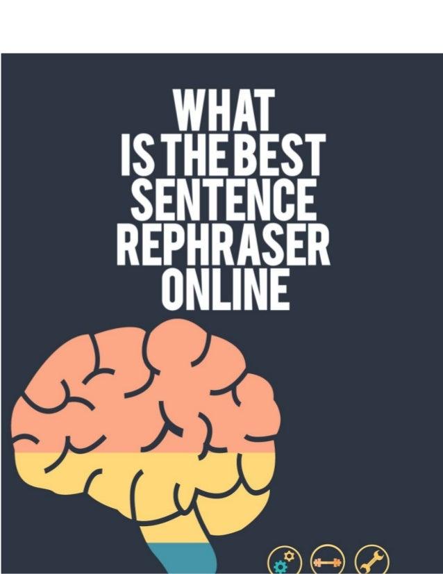 sentence rephraser