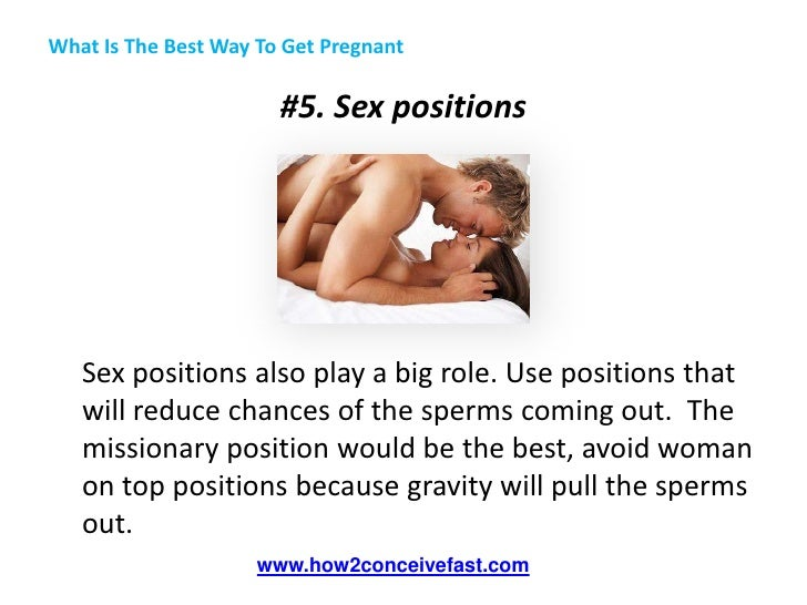 best sex position to get pregnant