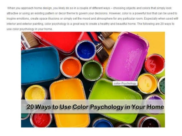 What is the color psychology