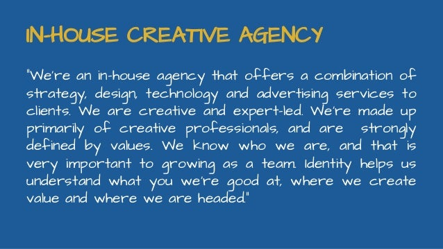 In house creative services
