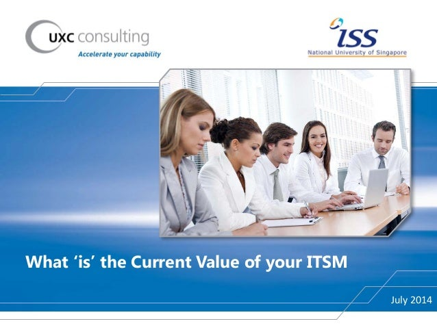 What 'is' the Current Value of your ITSM July 2014
