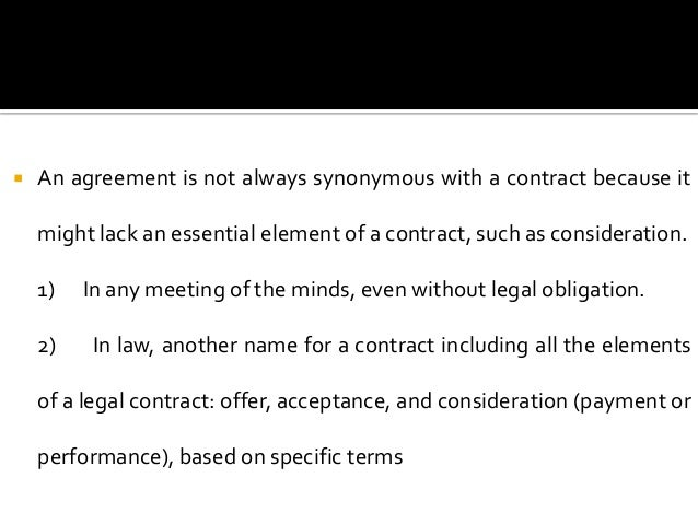 Common distinction of contracts