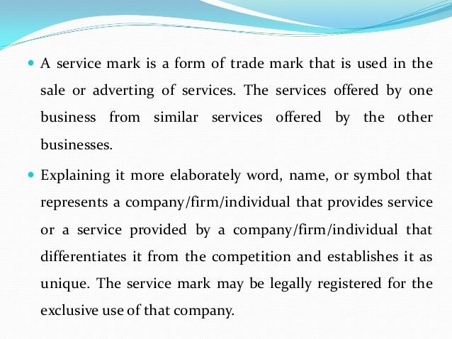 What Is The Difference Between A Trademark And A Service Mark
