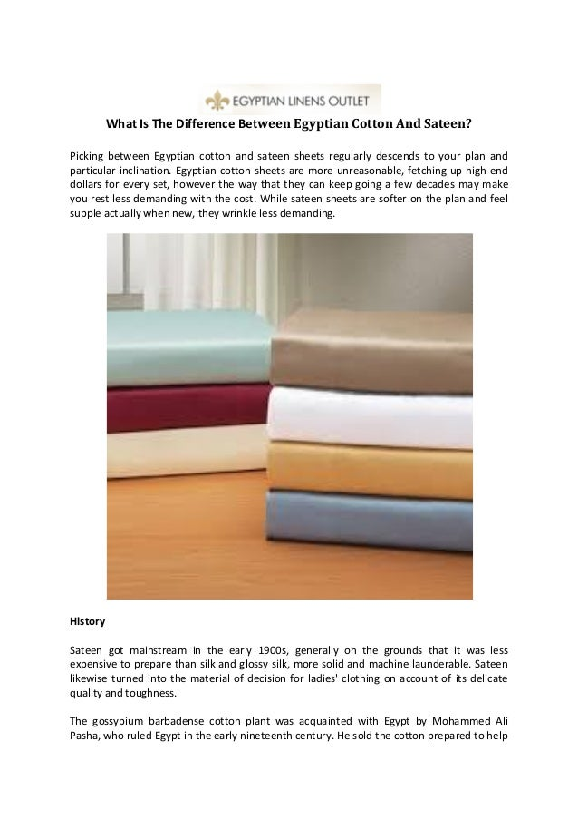 What Is The Difference Between Egyptian Cotton And Sateen