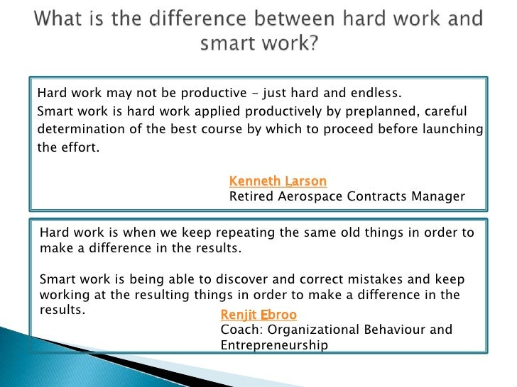 Great What Is The Difference Between Hard Work And Smart Work Bch Diversity  Inclusion Leadership Training 4