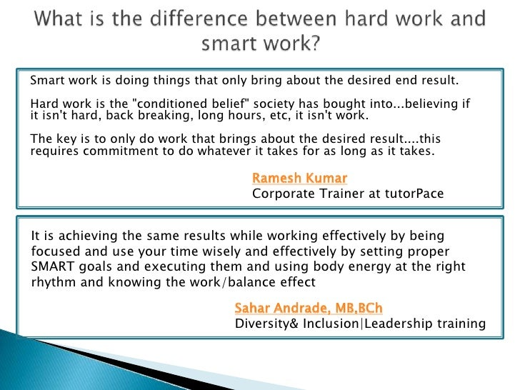 Amazing What Is The Difference Between Hard Work And Smart Work Sylvia Gautier  Proactive Life Coach 5