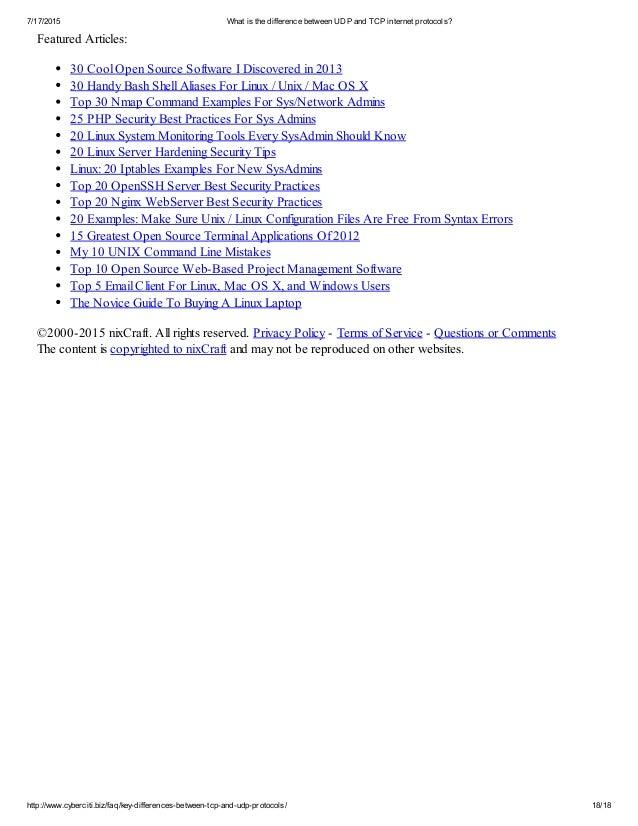 tcp and udp protocols pdf