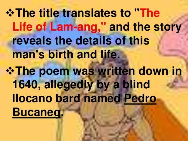 The Heroine of the Ilocano Epic,