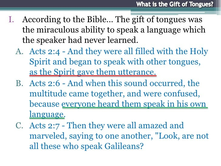 What is the Gift of Tongues