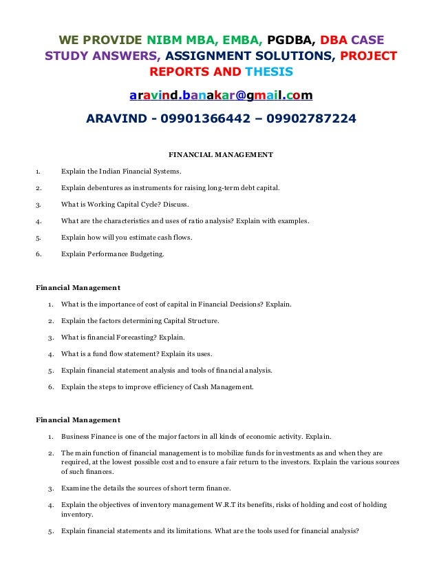 Capital Structure Harvard Case Solution & Analysis