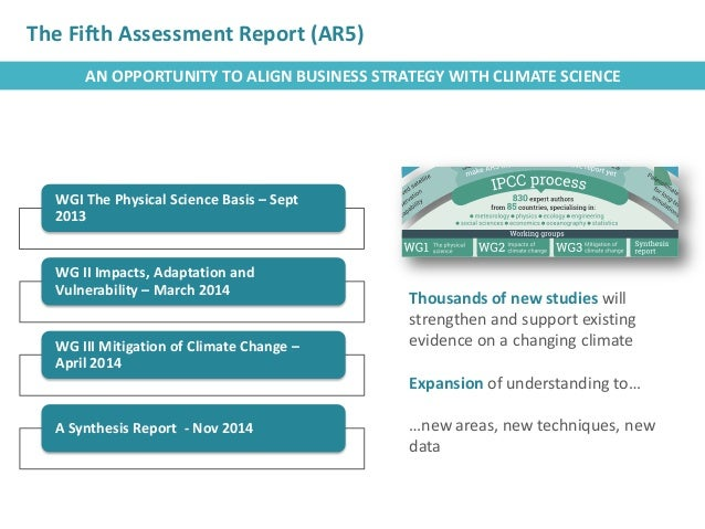 The UN Intergovernmental Panel on Climate Change (IPCC) Fifth Assessment Report (AR5): Implications for Business Slide 3