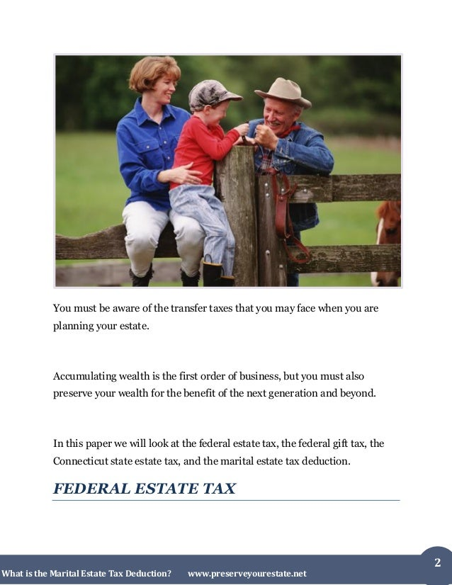 What Is The Marital Estate Tax Deduction in Connecticut Slide 2