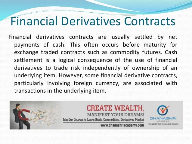 What is the Meaning of Financial Derivatives