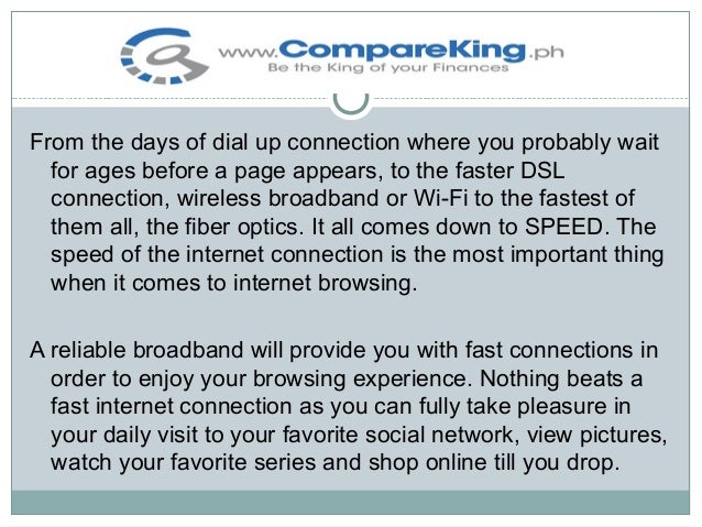 What is the most reliable broadband on the market Slide 3