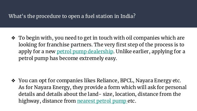 Nearest Fuel Station >> What Is The Procedure To Open A Fuel Station In India