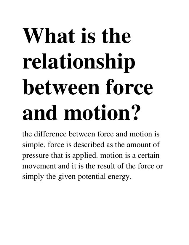 how is distance related to force and mass relationship