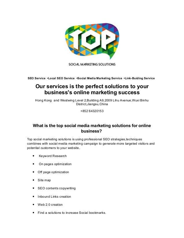 SEO Service •Local SEO Service •Social Media Marketing Service •Link-Buiding Service  Our services is the perfect solution...