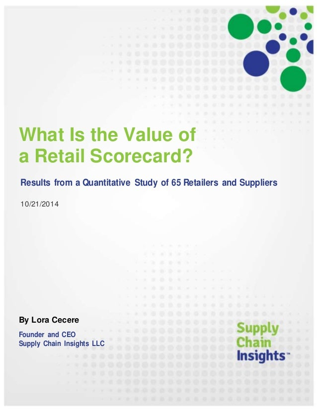 What Is the Value of a Retail Scorecard? - 21 OCT 2014