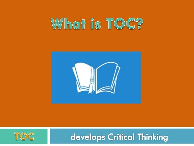 "TOC: ""Theory of Constrains""  Created in the early 80´s.  Used in business all over the world.  Noble Prize nominated (e..."